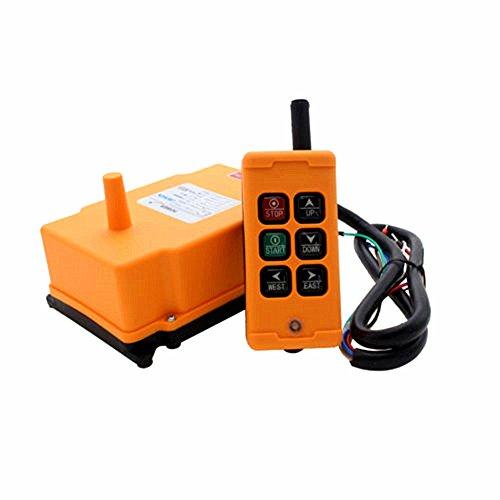MXBAOHENG Control Remoto Industrial de Elevación Grúa Inalámbrica de Control Remoto (AC...