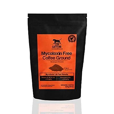Lean Caffeine Nicaragua Ground Coffee | Super Clean Mycotoxin Free Bulletproof Coffee | Dark Roasted, Low Acid Keto Coffee