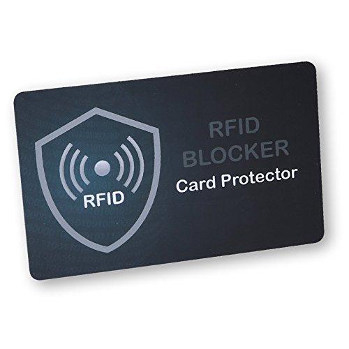 GROENOX - RFID NFC Blocker Card - Storende zender - Een kaart beschermt de hele portemonnee tegen diefstal - nooit meer afzonderlijke RFID-beschermhoezen voor creditcards, bankpassen, paspoort