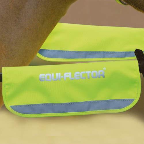 Un par de fundas para riendas/bridas Shires, de alta visibilidad, color amarillo, tamaño talla única