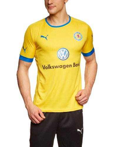 PUMA Herren Trikot Eintracht Braunschweig Home & Away, Team Yellow-puma royal-Home, L, 743279 01