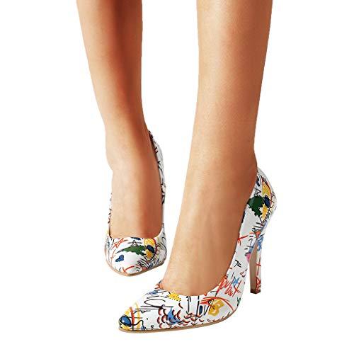 Rcool Zapatos de tacón zapatos de tacón alto mujer zapatos de tacón transparentes,Zapatos de tacón alto, zapatos de tacón de aguja con punta pequeña y salvaje