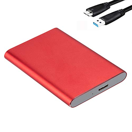GeekerChip Case Esterno per Disco Rigido 2.5',USB 3.0 HDD SSD Case Esterno in Metallo,HHD Case 7,5 mm per SATA I/II/III Hard Disk con USB 3.0 Cavo,Supporto UASP(Rosso)