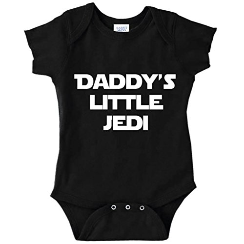 Decal Serpent Daddy's Little Jedi Funny Baby Bodysuit Infant (Black, 6 Months)