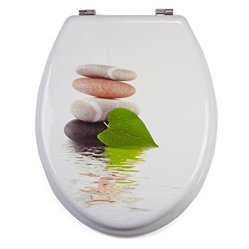 WC-Sitz Toilettendeckel Toilettensitz WC Deckel Klobrille MDF (Lingga)