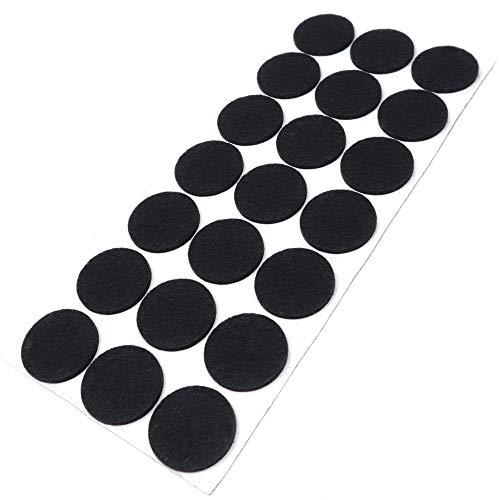 Adsamm | 21 x almohadillas de fieltro | Ø 30 mm | negro | redondo | Protectores de suelo para patas de mueble | auto-adhesivos | con grosor de 3,5 mm de la máxima calidad