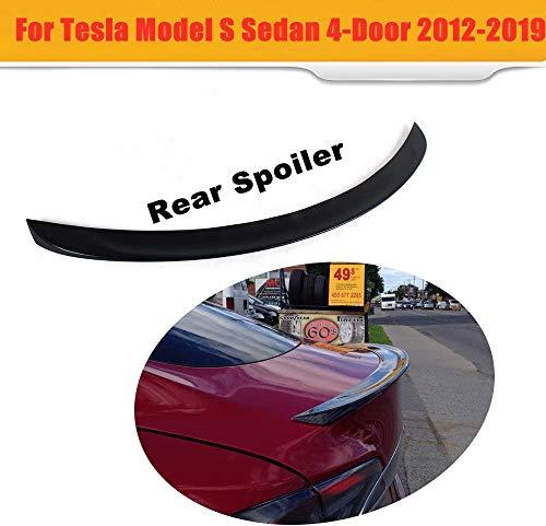 HYNB Carbon Fiber Spoiler Wing Trunk Lip voor Tesla Model S 60 70 75 85 90 D P85D P90D P100D 2012-2017, niet-destructieve installatie, auto exterieur