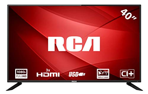 RCA RB40F1 Full HD LED TV (40 Pulgadas, Triple Tuner, HDMI, Ci+, Reproductor de Medios a través de USB 2.0, 60Hz)