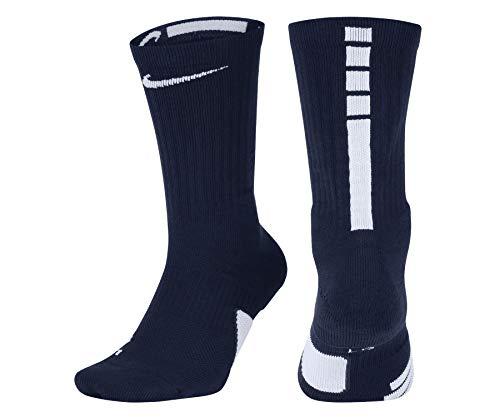 Nike elite socks blue small, Midnight Navy/White/White, Small 3Y-5Y / 4-6 WMNS