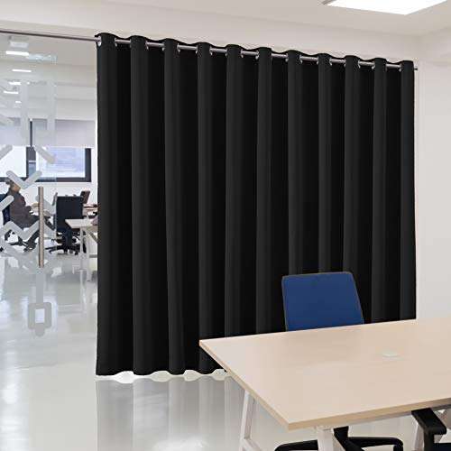 Best Deals! bluCOASTLINE Room Divider Curtain Extra Wide Blackout Curtain Panel Multiuse Premium Hea...