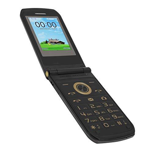 Teléfono móvil abatible para personas mayores,mini botón grande,teléfono móvil básico GSM,doble modo de espera,teléfono móvil abatible para personas mayores,32+32MB,3800mAh,micro USB(5 pines) (EU)
