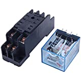 REFURBISHHOUSE 220/240V AC Coil DPDT Power Relay MY2NJ 8 Pin w Socket Base