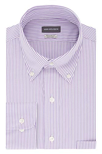 Van Heusen mens Regular Fit Pinpoint Stripe Dress Shirt, Wild Orchid, 18.5 Neck 34 -35 Sleeve XX-Large US