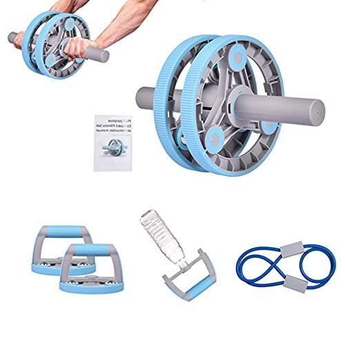3 In 1 AB Roller Bauchroller, AB Wheel Bauchtrainer, Hantel, Push-Up-Stab, Widerstandsseil, Anti-Rutsch-Radsatz, Bauchunterarm Blasterübung, Fitnessgeräte Für Home Gym ABS Kernstärke Training