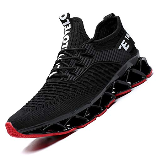 Chopben Men's Running Shoes Blade Non Slip Fashion Sneakers Breathable Mesh Soft Sole Casual...