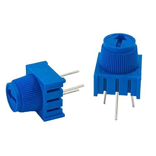 MCIGICM (10 Pcs) 10K Ohm Breadboard Trim Potentiometer kit with Knob for Arduino