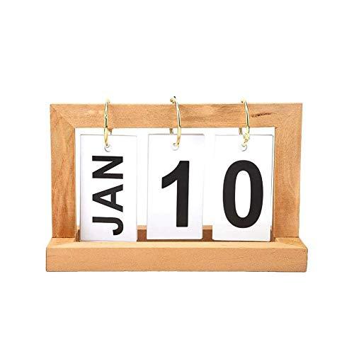 Wooden Calendar, Creative And Simple INS Page Calendar, Desktop Office Decoration,B