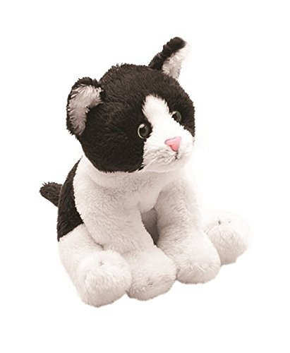 Suki Gifts- Yomiko Sitting Cat Peluche, 12012E, Noir/Blanc