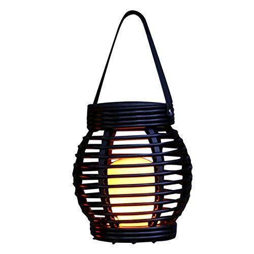 Luz Solar de la Linterna - Colgante al Aire Libre Jardín Luces Tejido Rattan lámpara para decoración del Paisaje Camino Patio Cubierta Yard