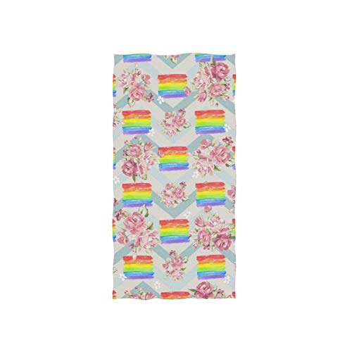 Bert-Collins Towel Toalla de Playa Decorativa con Bandera LGBT para baño, Fitness, 80x130cm