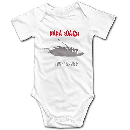 U are Friends Papa Roach Newborn Girls Boys Combi-Short Bébé Bébé Combi-Short pour Enfant en Bas âge(18M,Blanc)