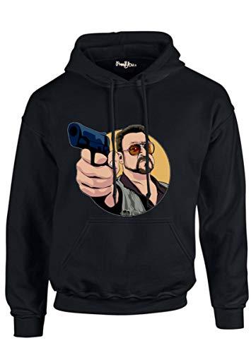 PressYou - Sudadera The Grande Lebowski Walter Sobchak Pistola Blanca Joel Coen Guerra del Vietnam Jeff Bridges John Goodman