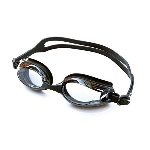 X.A スイミングゴーグル 度付き 水泳ゴーグル 度付きレンズ 度付き ゴーグル 曇り止め、柔らかいシリコーンクッションを付き 紫外線カット ベルト調節可 ゴーグルケース付き 耳栓付き 鼻ベルト3サイズ付き 男女兼用 フリーサイズ (-8.0)