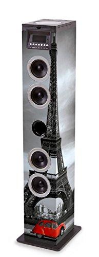 Bigben Interactive TW12CDPARIS3 Home-Stereoanlage Home Audio Tower System Mehrfarbig 60 W - Home-Stereoanlagen (Home Audio Tower System, Mehrfarbig, Bild, Oben, 60 W, FM)