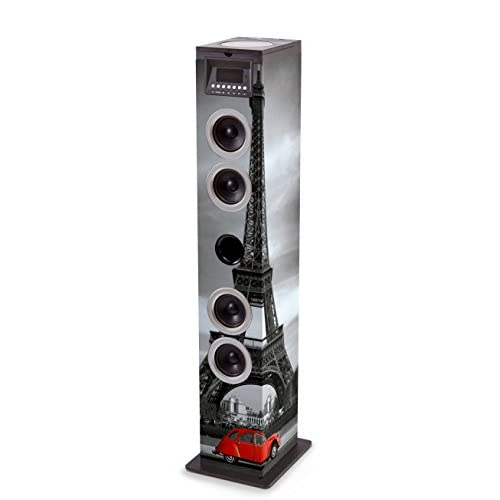 Bigben Interactive TW12CDPARIS3 Sistema Audio 2.1 con Radio, Paris2, Multicolore