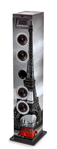 Bigben Interactive TW12CDPARIS3 Home-Stereoanlage Home Audio Tower System Mehrfarbig 60 W - Home-Stereoanlagen (Home Audio Tower System, Mehrfarbig, Bild, Oben, 60 W, FM)