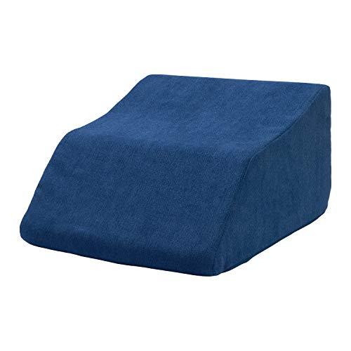 Selfitex Beinkissen, Beinkeil, weicher Schaumstoff mit abnehmbarem und waschbarem Bezug, Hochlagerung und Entspannung für Rücken und Beine, in 2 Größen erhältlich (60 x 45 x 34 cm, Blau)