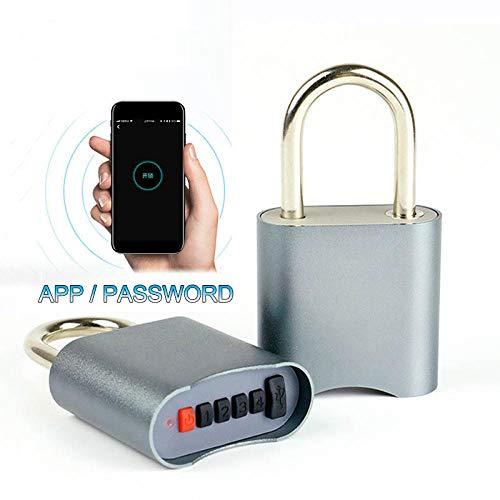 Candado inteligente, bloqueo de contraseña de la aplicación Bluetooth, cerradura electrónica impermeable IP65 para exteriores, cerradura de puerta pequeña antirrobo sin llave