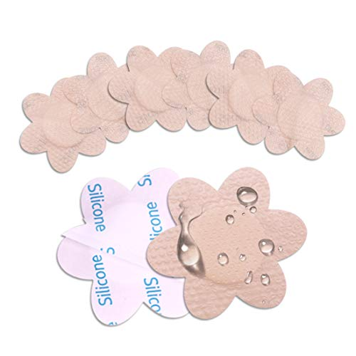 Nipple Stickers Reusable 10 Pairs Waterproof Adhesive Nipple Covers Invisible Breast Petals Suitable for Wearing, Tanning, Running, Swimming