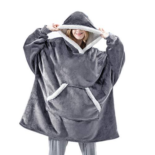 Shamdon Home Collection Oversize Hoodie Decke Damen, Unisex Kapuzenpullover, Riesen-Sweatshirt, Super weich und bequem, Geeignet für Erwachsene, Männer, Frauen, Jugendliche