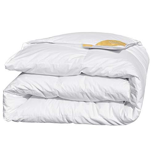 puredown® Deluxe Bettdecke 4 Jahreszeiten 60% Daunen, 40% Feder, 135x200cm Daunendecke, Gänseflaum Bettwäsche, Atmungsaktiv Wärmeausgleichend Öko-Tex