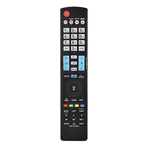 Annadue Ersatzfernbedienung für LG, Smart Fernbedienung für LG TV 60LA620S AKB73756504 32LM620T AKB73275618 AKB73756502. (schwarz)