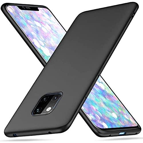 Coque pour Huawei Mate 20 Pro, Silicone en Gel TPU Souple Protection avec Absorption Choc et Anti-Scratch, étui de Protection Antichoc, Etui Case Cover pour Huawei Mate 20 Pro (Noir)