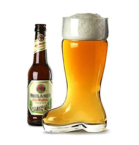 Bierstiefel Glass, Taditoneller Bierglas Bierkrug Mit Wunschname Personalisiert Für Freund Vatertaggeschenke Für Papa Oktoberfest