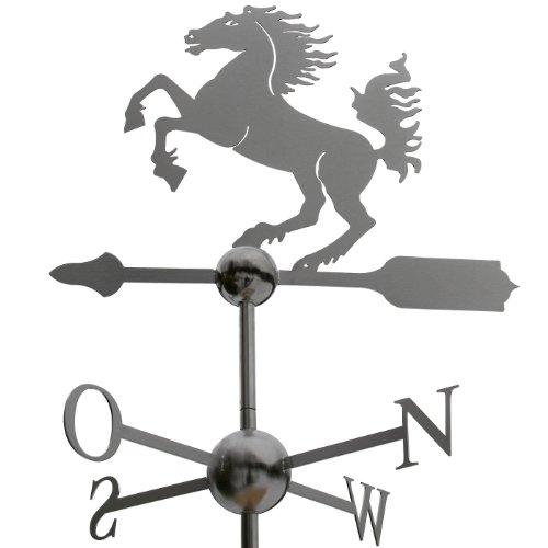Große Linneborn Pferd Wetterfahne aus Edelstahl (Wetterhahn)
