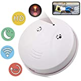 Spy Camera Wireless Hidden ZXWDDP HD 1080P Nanny Cam Baby Pet Monitor WiFi Smoke Detector Camera Motion Detection/Indoor Security Monitoring Camera Support iOS/Android