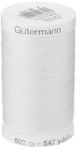 Gütermann Fil de Couture Polyvalent Blanc 500m