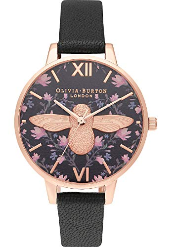 Olivia Burton Damen Analog Quarz Uhr mit Leder Armband OB16AM165