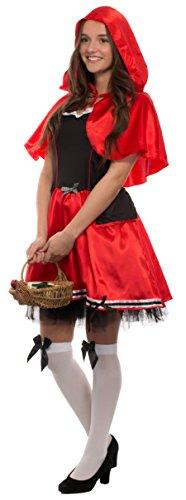 Brandsseller Karneval Damen Kostüm/Fasching/Halloween-Parties - [ Motive: Rotkäppchen] Junggesellenabschied (L/XL, Rotkäppchen Motiv2)