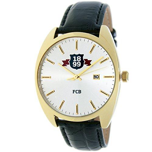 RADIANT Reloj analógico de caballero F.C.BARCELONA - Correa de piel - Dorado - BA-16601 Swiss