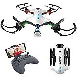 ATOYX Drone avec Caméra AT146 Drone Pliable Hélicoptère Télécommande WiFi avec Mode sans Tête, Induction de Gravité,...
