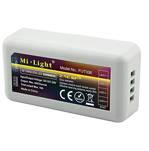 Controlador inteligente para tiras LED, centralita monocolor RF, 2,4...