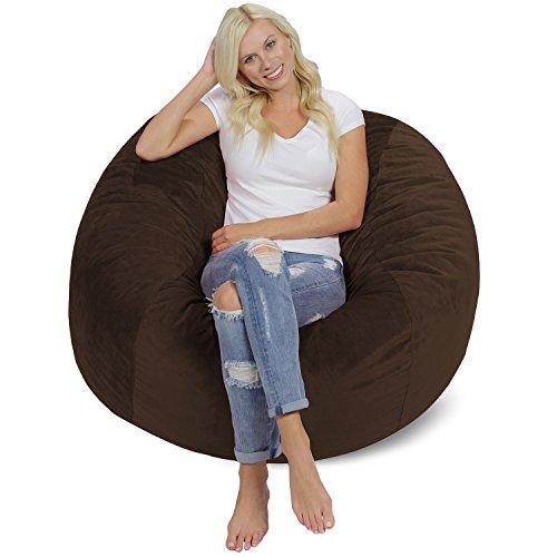 Chill Sack Bean Bag Chair: Giant 4' Memory Foam Furniture Bean Bag -...