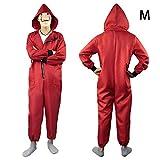 precauti Halloween Cosplay Adult Clown Anzug Kostüm dritte Episode Banknote Haus Dali Red Zipper Jumpsuit (No-Maske)