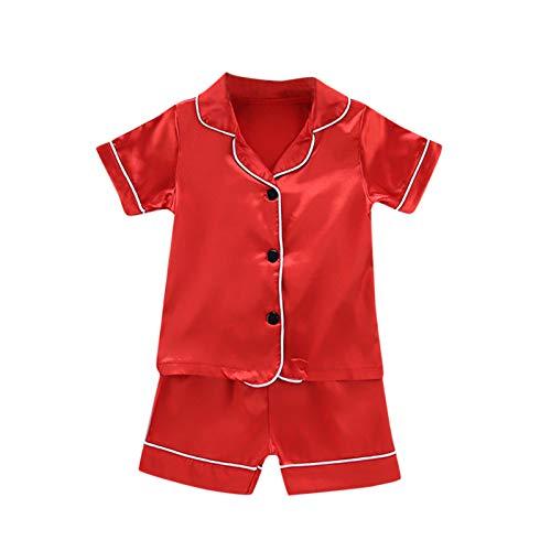 Julhold Conjunto de ropa de dormir para nios pequeos conjuntos de ropa para bebs y nias slidos pijamas