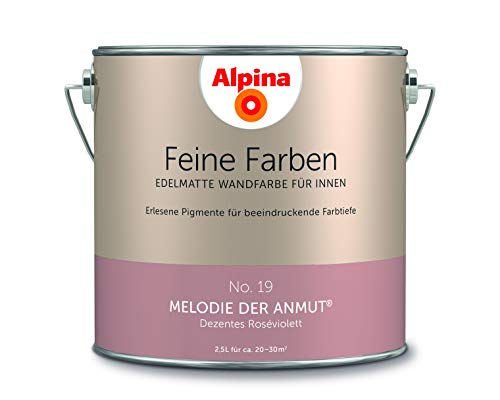 Alpina 2,5 L. Feine Farben, Farbwahl, Edelmatte Wandfarbe für Innen (No.19 Melodie der Anmut - Dezen
